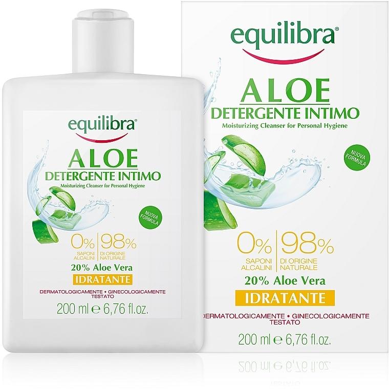 Feuchtigkeitsspendendes Gel für die Intimhygiene - Equilibra Aloe Moisturizing Cleanser For Personal Hygiene
