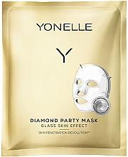 Düfte, Parfümerie und Kosmetik Feuchtigkeitsspendende und revitalisierende Tuchmaske für das Gesicht - Yonelle Diamond Party Mask