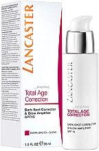 Düfte, Parfümerie und Kosmetik Aufhellende und korrigierende Gesichtscreme gegen dunkle Flecken - Lancaster Total Age Correction Dark Spot Corrector & Glow SPF15
