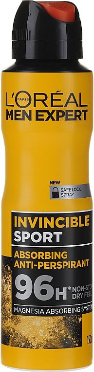 Deospray Antitranspirant - L'Oreal Men Expert Invincible Sport Deodorant 96H