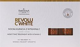 Düfte, Parfümerie und Kosmetik Nachtkonzentrat für das Gesicht mit Vitamin C - Farmona Professional Revolu C White