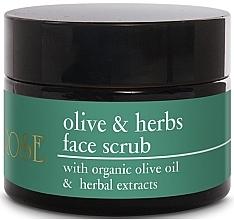 Düfte, Parfümerie und Kosmetik Peeling do twarzy z oliwą z oliwek i ekstraktami ziołowymi - Yellow Rose Olive & Herbs Face Scrub