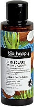 Düfte, Parfümerie und Kosmetik Bräunungsöl für Körper und Haar mit Kokoswasser und Aloe - Bio Happy Hair & Body Tanning Oil Coconut Water And Aloe