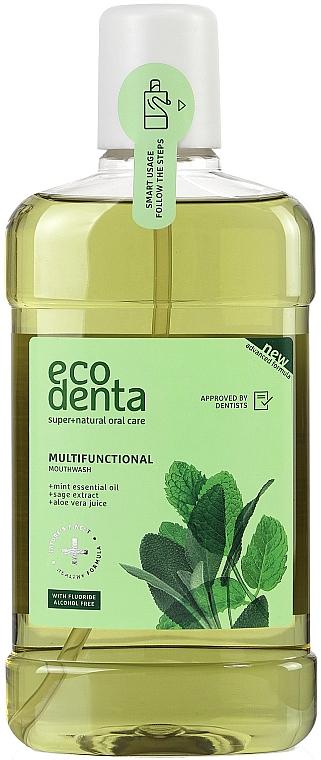 Mundspülung mit ätherischem Minzöl und Salbei-Extrakt - Ecodenta Multifunctional Mouthwash