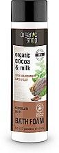 Düfte, Parfümerie und Kosmetik Pflegender Badeschaum mit Bio Kakaobutter und Milchprotein - Organic Shop Organic Cacao and Milk Milky Bath Foam