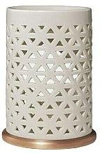 Düfte, Parfümerie und Kosmetik Keramik-Aromalampe - Yankee Candle Belmont Punched Ceramic Wax Melt Burner
