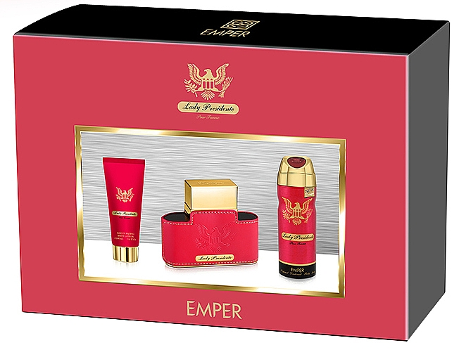 Emper Lady Presidente - Duftset (Eau de Parfum 80ml + Deospray 200ml + Körperlotion 100ml)