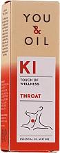Düfte, Parfümerie und Kosmetik Bioaktive ätherische Ölmischung gegen Halsschmerzen - You & Oil KI-Throat Touch Of Welness Essential Oil