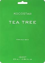 Düfte, Parfümerie und Kosmetik Regenerierende Gesichtsmaske für fettige Haut mit Teebaum - Kocostar Tea Tree Mask
