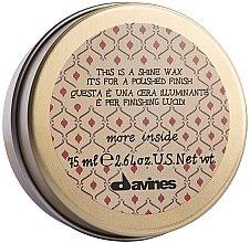 Düfte, Parfümerie und Kosmetik Haarwachs für glänzendes Finish - Davines More Inside This Is A Shine Wax