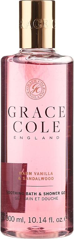 Duschgel Vanilla & Sandalwood - Grace Cole Warm Vanilla & Sandalwood Soothing Bath & Shower Gel