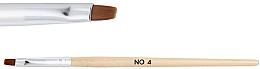Düfte, Parfümerie und Kosmetik Holzpinsel für Nagelgel №4 - NeoNail Professional