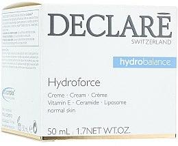 Düfte, Parfümerie und Kosmetik Leichte feuchtigkeitsspendende Gesichtscreme mit Vitamin E, Ceramiden und Liposomen - Declare Hydroforce Cream