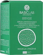 Düfte, Parfümerie und Kosmetik Gesichtsserum gegen Unvollkommenheiten mit 5% Niacinamid, 5% Präbiotikum und Reisfermentfiltrat - BasicLab Dermocosmetics Esteticus