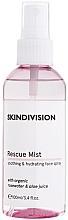 Düfte, Parfümerie und Kosmetik Beruhigender und feuchtigkeitsspendender Gesichtsnebel mit Bio Rosenwasser und Aloesaft - SkinDivision Face Rescue Mist