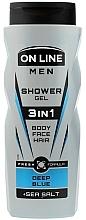 Düfte, Parfümerie und Kosmetik 3in1 Duschgel für Körper, Gesicht und Haar - On Line Men 3in1 Deep Blue