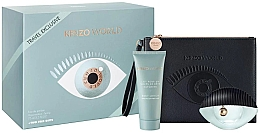 Düfte, Parfümerie und Kosmetik Kenzo World Kenzo - Duftset (Eau de Parfum 75ml + Körperlotion 75ml + Kosmetiktasche)