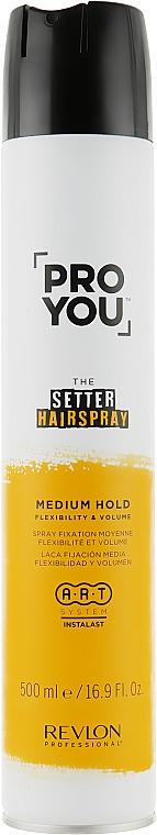 Haarspray für mehr Flexibilität und Volumen Mittlerer Halt - Revlon Professional Pro You The Setter Hairspray Medium