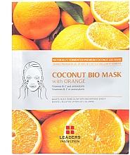 Düfte, Parfümerie und Kosmetik Straffende und aufhellende Tuchmaske mit Orangenextrakt - Leader Coconut Bio Mask With Orange