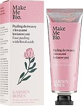 Gesichtspeeling mit Blumensäuren - Make Me Bio Garden Roses Face Peeling With Floral Acids — Bild N1