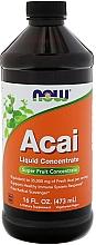 Düfte, Parfümerie und Kosmetik Nahrungsergänzungsmittel Acai - Now Foods Acai Liquid Concentrate