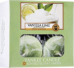 Düfte, Parfümerie und Kosmetik Teelichter Vanilla Lime - Yankee Candle Vanilla Lime Tea Light Candles