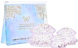 Düfte, Parfümerie und Kosmetik Silikon-Schröpfköpfe für Gesichts- und Körper-Massage - Crystallove Crystal Body Cupping Set