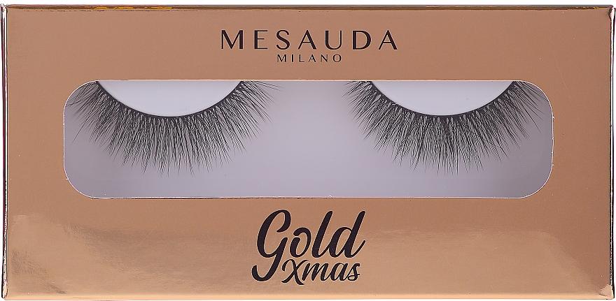Sztuczne rzęsy na pasku - Mesauda Milano Gold XMas Instant Glam Extra Volume False Lashes 203