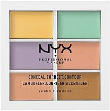Düfte, Parfümerie und Kosmetik Gesichtskontur-Palette - NYX Professional Makeup Color Correcting Palette