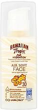 Düfte, Parfümerie und Kosmetik Feuchtigkeitsspendende Sonnenschutzlotion mit LSF 30 - Hawaiian Tropic Silk Hydration Air Soft Face Protective Sun Lotion SPF 30