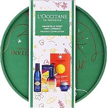 Düfte, Parfümerie und Kosmetik Gesichtspflegeset - L'Occitane Immortelle (Elixier für die Nacht 30ml + Gesichtscreme 8ml + Gesichtswasser 30ml + Gesichtspeeling 6ml)