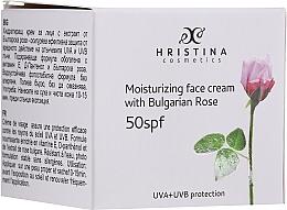 Düfte, Parfümerie und Kosmetik Feuchtigkeitsspendende Gesichtscreme mit bulgarischer Rose SPF 50 - Hristina Cosmetics Moisturizing Face Cream With Bulgarian Rose SPF50