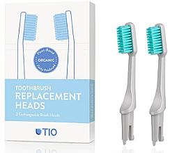 Düfte, Parfümerie und Kosmetik Austauschbare Zahnbürstenköpfe weich grau 2 St. - TIO Toothbrush Soft