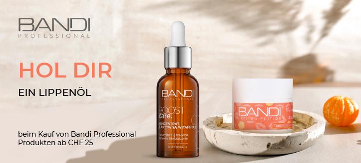 Beim Kauf von Bandi Professional Produkten ab CHF 25 erhältst Du ein Lippenöl geschenkt