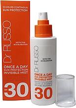 Düfte, Parfümerie und Kosmetik Feuchtigkeitsspendender Sonnenschutznebel für den Körper mit Vitamin E, Ferulasäure und Hyaluronsäure SPF 30 - Dr. Russo Once A Day SPF30 Sun Protective Invisible Mist
