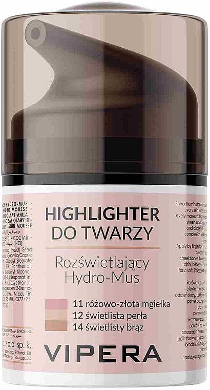 Feuchtigkeitsspendende Highlighter-Mousse für das Gesicht - Vipera Illuminating Hydro-Mousse Highlighter
