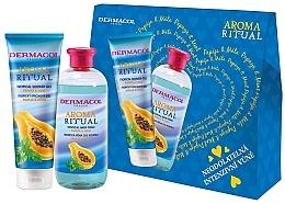 Düfte, Parfümerie und Kosmetik Körperpflegeset - Dermacol Aroma Ritual Papay & Mint (Duschgel 250ml + Badeschaum 500ml)
