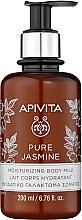 Düfte, Parfümerie und Kosmetik Feuchtigkeitsspendende Körpermilch mit Jasmin - Apivita Pure Jasmine Moisturizing Body Milk