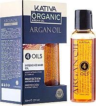 Düfte, Parfümerie und Kosmetik Regenerierendes Haarkonzentrat mit 4 Ölen - Kativa Argan Oil