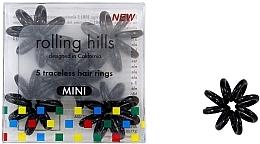 Düfte, Parfümerie und Kosmetik Spiral-Haargummi schwarz 5 St. mini - Rolling Hills 5 Traceless Hair Rings Mini Black