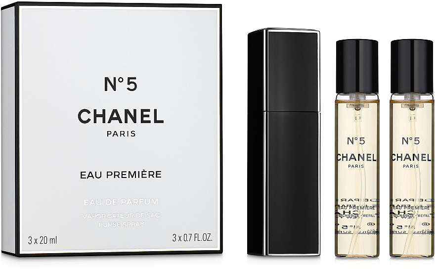 Chanel N5 Eau Premiere - Eau de Parfum (2x20ml Refill + 20ml Parfümzerstäuber) — Bild N1