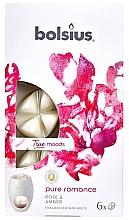 Düfte, Parfümerie und Kosmetik Płatki zapachowe do kominka Róża i bursztyn - Bolsius True Moods Pure Romance Fragranced Wax Melts