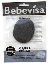 Düfte, Parfümerie und Kosmetik Peelingschwamm für das Gesicht Bambusaktivkohle mit Konjak-Wurzel - Bebevisa Konjac Sponge