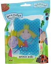 Düfte, Parfümerie und Kosmetik Kinder-Badeschwamm Ben & Holly Holly blau mit Tupfen - Suavipiel Ben & Holly Bath Sponge