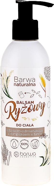 Pflegender Reisbalsam für den Körper mit Vitaminkomplex - Barwa Naturalna