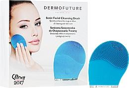 Düfte, Parfümerie und Kosmetik Elektrische Gesichtsreinigungsbürste blau - DermoFuture Sonic Facial Cleansing Brush