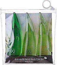 Düfte, Parfümerie und Kosmetik Körperpflegeset - Holika Holika Aloe Face And Body Care Set (Reinigungsschaum für Gesicht 55ml + Beruhigungsgel 55ml + Duschgel 55ml)