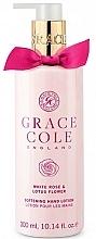 Düfte, Parfümerie und Kosmetik Aufweichende Handlotion mit weißer Rose und Lotosblume - Grace Cole White Rose & Lotus Flower Hand Lotion