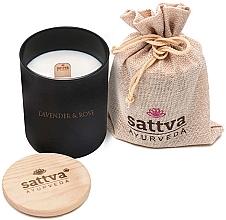 Düfte, Parfümerie und Kosmetik Duftkerze Lavendel und indische Rose - Sattva Lavender & Indian Rose Candle