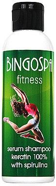 Serum-Shampoo mit Keratin - BingoSpa Serum Shampoo Keratin 100% With Spirulina Fitness